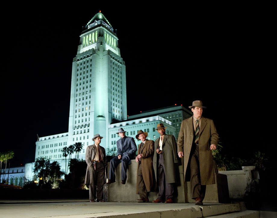 "Michael Peña as Officer Navidad Ramirez, Ryan Gosling as Sgt. Jerry Wooters, Robert Patrick as Officer Max Kennard, Anthony Mackie as Officer Coleman Harris and Josh Brolin as Sgt. John O'Mara in Warner Bros. Pictures' and Village Roadshow Pictures' drama  ""Gangster Squad,' a Warner Bros. Pictures release. Photo: Wilson Webb, Warner Brothers / ©2013 Warner Bros. Entertainment Inc. - - U.S., Canada, Bahamas & Bermuda ©2013 Village Roadshow Films (BVI) Limited - - All Other Territories"