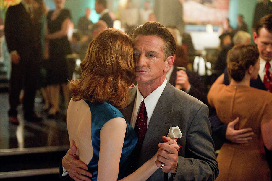 "Sean Penn as Mickey Cohen with Emma Stone as Grace Faraday in Warner Bros. Pictures' and Village Roadshow Pictures' drama  ""Gangster Squad,' a Warner Bros. Pictures release. Photo: Wilson Webb, Warner Brothers / ©2013 Warner Bros. Entertainment Inc. - - U.S., Canada, Bahamas & Bermuda ©2013 Village Roadshow Films (BVI) Limited - - All Other Territories"