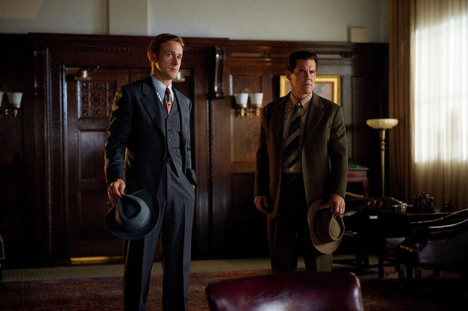 "Ryan Gosling as Sgt. Jerry Wooters and Josh Brolin as Sgt. John O'Mara in Warner Bros. Pictures' and Village Roadshow Pictures' drama  ""Gangster Squad,' a Warner Bros. Pictures release. Photo: Wilson Webb, Warner Brothers / ©2013 Warner Bros. Entertainment Inc. - - U.S., Canada, Bahamas & Bermuda ©2013 Village Roadshow Films (BVI) Limited - - All Other Territories"