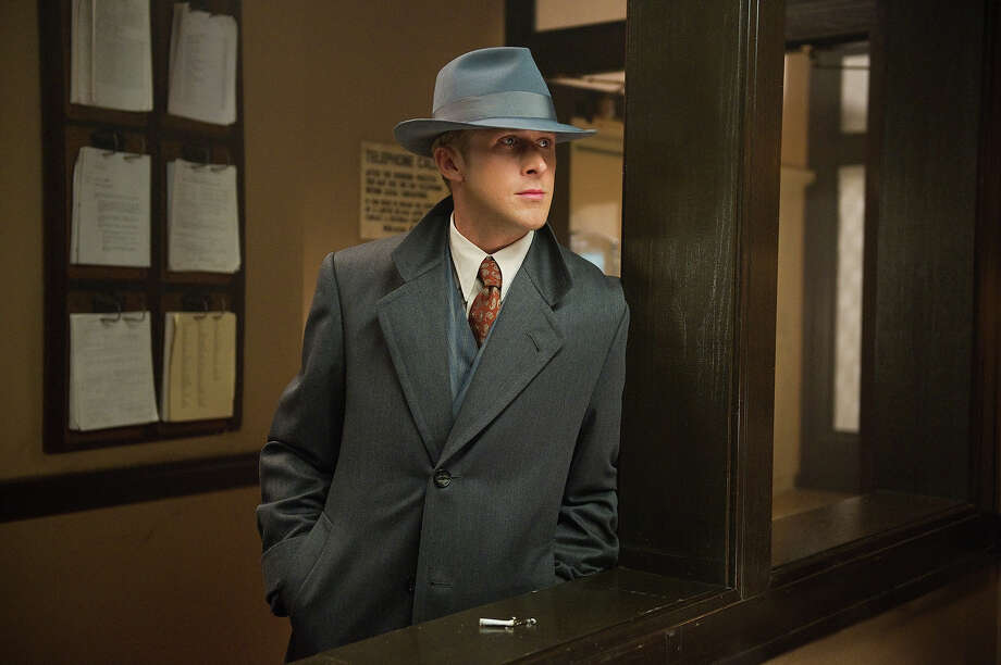 "Ryan Gosling as Sgt. Jerry Wooters in Warner Bros. Pictures' and Village Roadshow Pictures' drama  ""Gangster Squad,' a Warner Bros. Pictures release. Photo: Wilson Webb, Warner Brothers / ©2013 Warner Bros. Entertainment Inc. - - U.S., Canada, Bahamas & Bermuda ©2013 Village Roadshow Films (BVI) Limited - - All Other Territories"