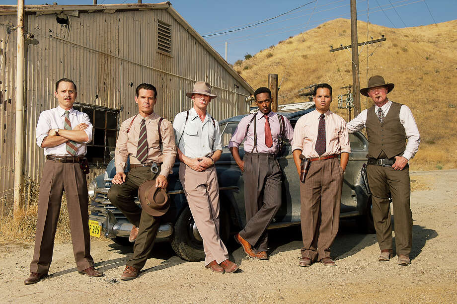 Giovanni Ribisi as Officer Conwell Keeler, Josh Brolin as Sgt. John O'Mara, Ryan Gosling as Sgt. Jerry Wooters, Anthony Mackie as Officer Coleman Harris, Michael Peña as Officer Navidad Ramirez and Robert Patrick as Officer Max Kennard in Warner Bros. Pictures' and Village Roadshow Pictures' drama 'Gangster Squad,' a Warner Bros. Pictures release. Photo: Wilson Webb, Warner Brothers / ©2013 Warner Bros. Entertainment Inc. - - U.S., Canada, Bahamas & Bermuda ©2013 Village Roadshow Films (BVI) Limited - - All Other Territories