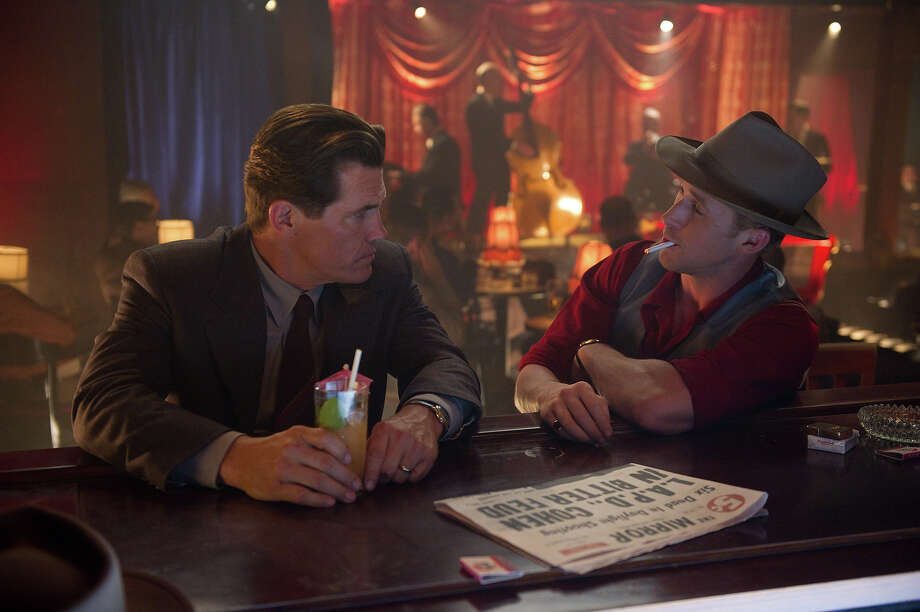 Josh Brolin as Sgt. John O'Mara and Ryan Gosling as Sgt. Jerry Wooters in Warner Bros. Pictures' and Village Roadshow Pictures' drama 'Gangster Squad,' a Warner Bros. Pictures release. Photo: Wilson Webb, Warner Brothers / ©2013 Warner Bros. Entertainment Inc. - - U.S., Canada, Bahamas & Bermuda ©2013 Village Roadshow Films (BVI) Limited - - All Other Territories