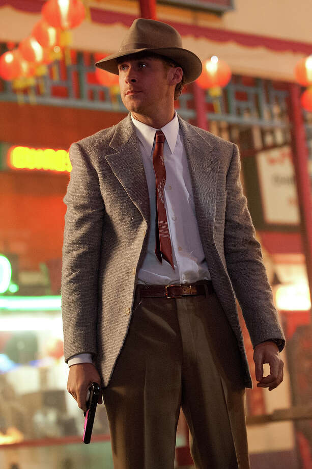 Ryan Gosling as Sgt. Jerry Wooters in Warner Bros. Pictures' and Village Roadshow Pictures' drama 'Gangster Squad,' a Warner Bros. Pictures release. Photo: Jamie Trueblood, Warner Brothers / ©2013 Warner Bros. Entertainment Inc. - - U.S., Canada, Bahamas & Bermuda ©2013 Village Roadshow Films (BVI) Limited - - All Other Territories