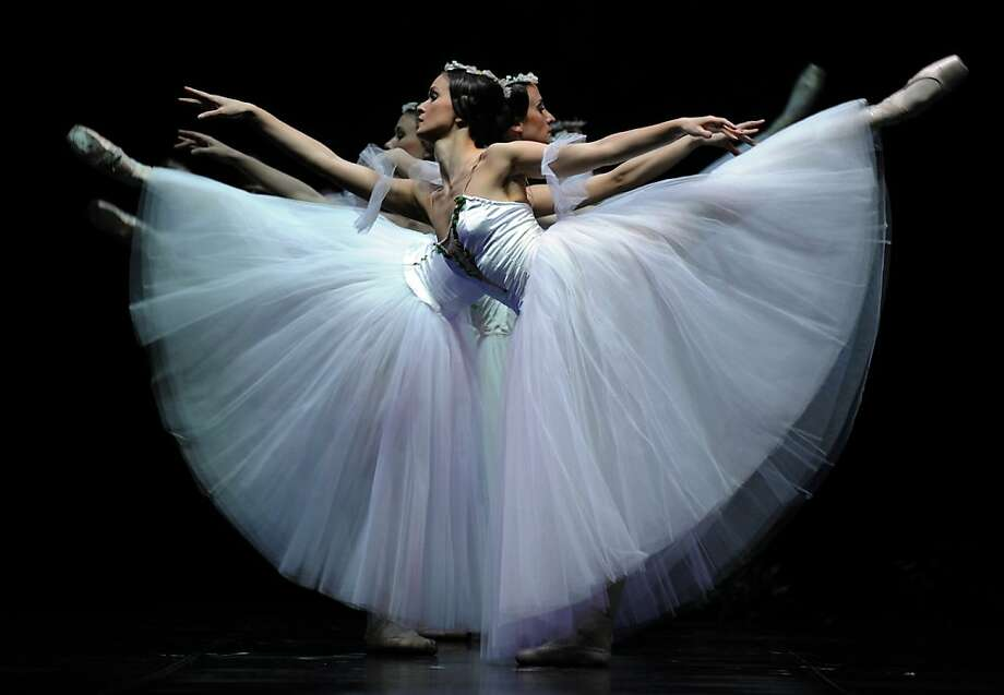"Jete set:Classical dancers of the Latvian National Ballet perform ""Giselle"" at the Teatro de la Maestranza in Seville, Spain. Photo: Cristina Quicler, AFP/Getty Images"