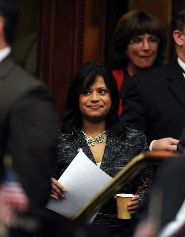 State Rep. Christina Ayala (D-Bridgeport) attends opening day of the State Legislature at the Capitol Building in Hartford, Conn. Wednesday, Jan. 9, 2013. Photo: Autumn Driscoll / Connecticut Post