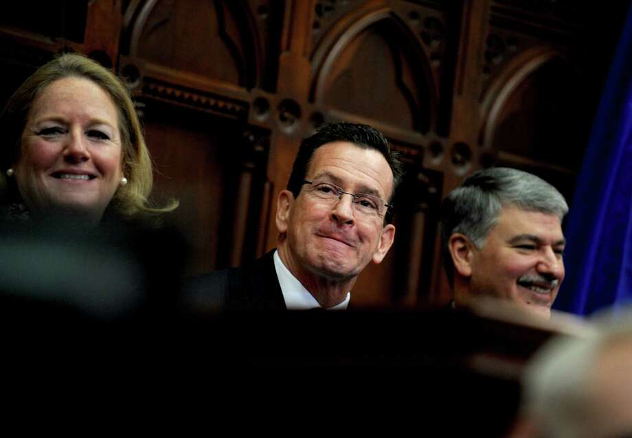 Gov. Dannel Malloy attends opening day of the State Legislature at the Capitol Building in Hartford, Conn. Wednesday, Jan. 9, 2013. Photo: Autumn Driscoll / Connecticut Post