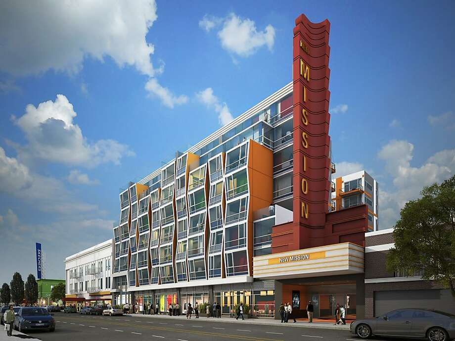 The Planning Commission approved a colorful condominium project between 21st and 22nd streets on Mission Street. Photo: -, Oyster Development Corp.
