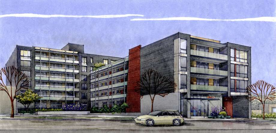 An artist's depiction of Stream Uptown, a new lower Queen Anne apartment building that boasts of being the first residential building in Seattle to fully mitigate its carbon footprint for construction, and ongoing operation and maintenance. Photo: Stream Real Estate LLC