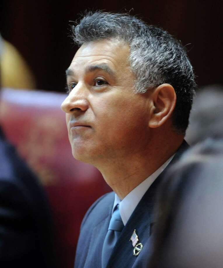 State Sen. Carlo Leone (D-Stamford) attends opening day of the State Legislature at the Capitol Building in Hartford, Conn. Wednesday, Jan. 9, 2013. Photo: Autumn Driscoll / Connecticut Post