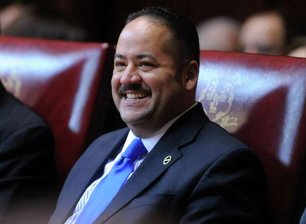 State Sen. Andres Ayala (D-Bridgeport) attends opening day of the State Legislature at the Capitol Building in Hartford, Conn. Wednesday, Jan. 9, 2013. Photo: Autumn Driscoll / Connecticut Post