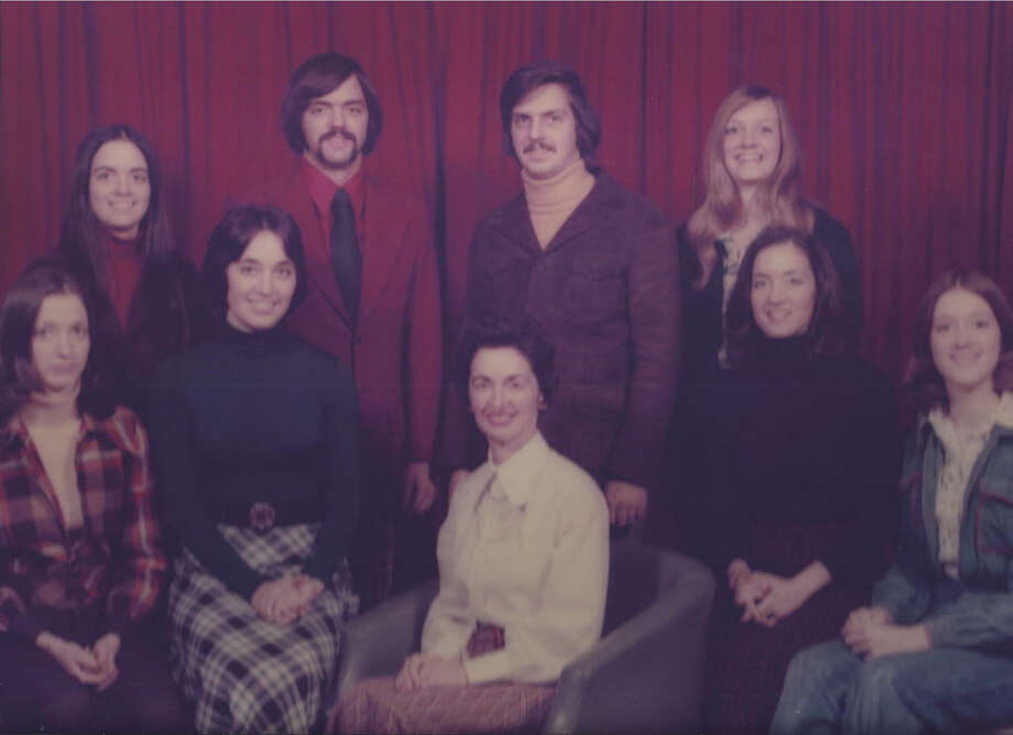 The children with their mother in 1974: O'Ine, Megan, Catherine, Barry, Eileen, Thomas, Erin, Maura, Amy.