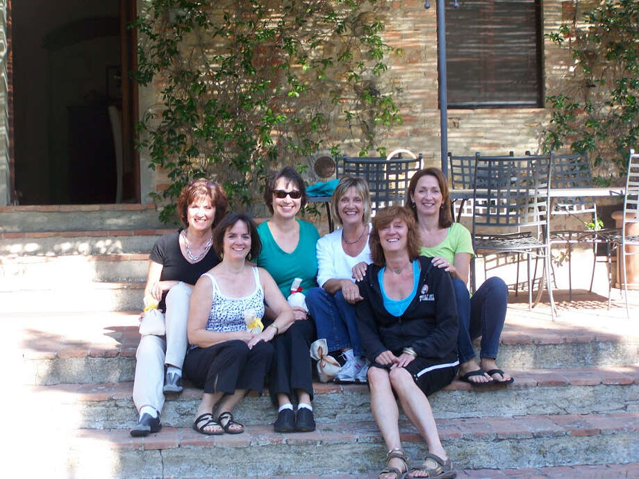 The McCabe sisters in Tuscany, September 2012: Maura, Megan, Catherine, Erin, Amy, O'Ine.