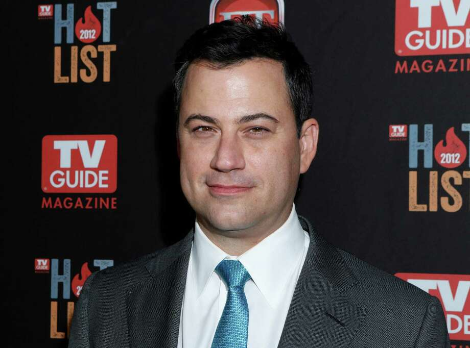 "FILE - This Nov. 12, 2012 file photo shows Jimmy Kimmel at the TV Guide Magazine's 2012 Hot List Party at Skybar at the Mondrian Hotel  in West Hollywood, Calif. Kimmel went head-to-head Tuesday, Jan. 8, 2013, for the first time against CBS' ""Late Show with David Letterman"" and NBC's ""Tonight Show with Jay Leno."" According to Nielsen fast national ratings, Kimmel edged out Letterman and ran slightly behind Leno in total viewers.   (Photo by Todd Williamson/Invision/AP, file) Photo: Todd Williamson"