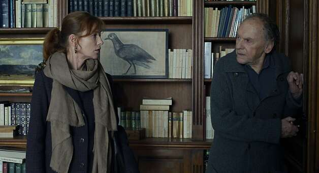 "Left to Right: Isabelle Huppert as Eve and Jean-Louis Trintignant as Georges star in, ""Amour."" Photo: Darius Khondji, Sony Pictures Classics"