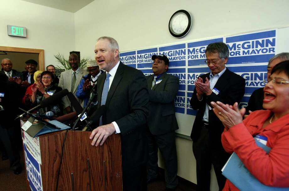 Seattle Mayor Mike McGinn announces he will seek a second term on Wednesday, January 9, 2013 at the Filipino Community Center on Martin Luther King Jr. Way South in Seattle. Photo: JOSHUA TRUJILLO / SEATTLEPI.COM