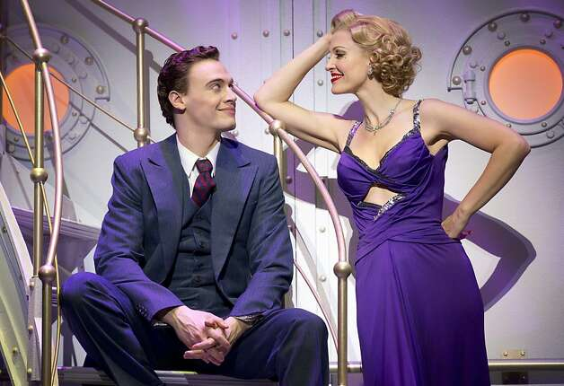 "Erich Bergen plays stowaway Billy Crocker and Rachel York plays Reno Sweeney in the toe-tapping ""Anything Goes."" Photo: Joan Marcus"