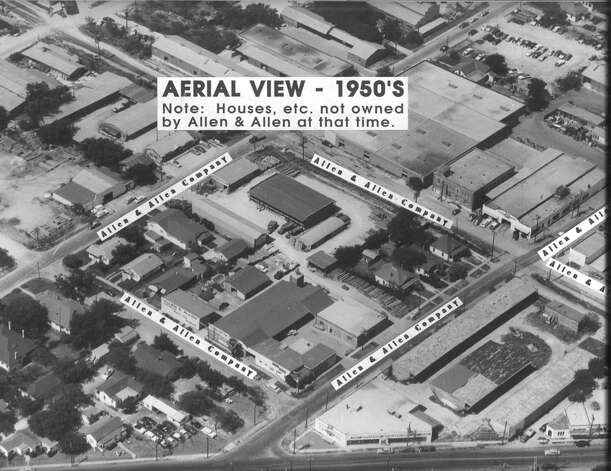 Allen and Allen's store is seen in an undated 1950's aerial photo provided Wed., Jan. 9, 2013 by Allen and Allen Company. Photo: Courtesy / Courtesy of Allen and Allen Co.