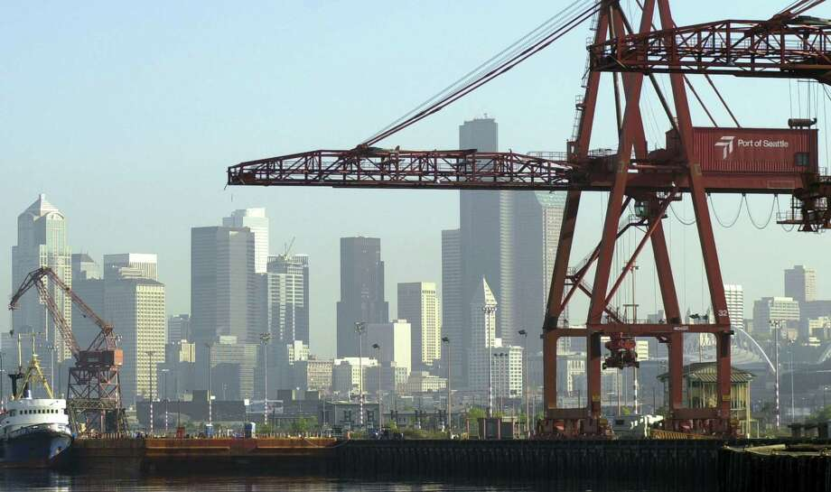 The Port of Seattle: 40 percent of Washington's jobs are tied, in one way or another, to exports. Photo: Ron Wurzer, Getty Images / 2002 Getty Images