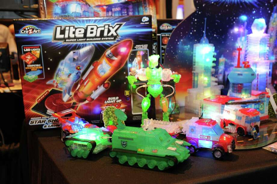 Toymaker Cra-Z-Art empowers girls and boys to build their worlds with light using Lite Brix construction sets seen at CES Showstoppers. Photo: Powers Imagery, Associated Press / Invision