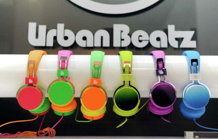 Ombre headphones by Urban Beatz are on display at the 2013 International CES at the Las Vegas Convention Center on Wednesday. Photo: David Becker, Getty Images / 2013 Getty Images