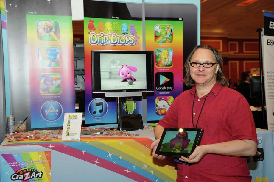 App creator, Ian Morrison, seen at CES Showstoppers, on Tuesday, Jan. 8, 2013, in Las Vegas. Drip Drops debuts Color the World app turning a tablet into a 3-D digital coloring book for preschoolers. Photo: Powers Imagery, Associated Press / Invision