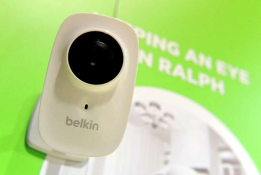The Belken Netcam HD is displayed Wednesday. The wireless camera that allows the user to view throug