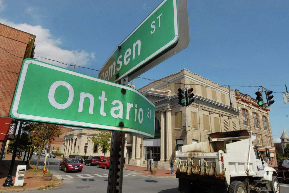 The intersection of Ontario and Remsen Streets in Cohoes, New York 9/24/2009. (Michael P. Farrell / Times Union )
