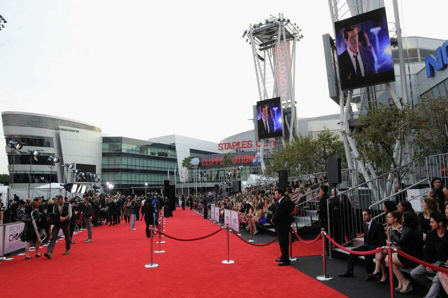 The red carpet at L.A Live.