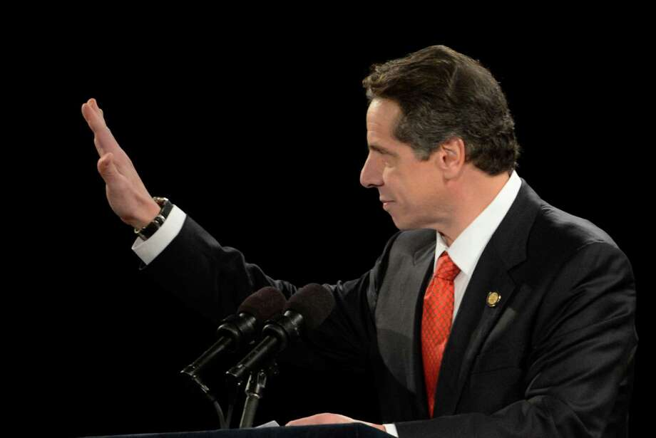 Governor Andrew Cuomo gives his State of the State message in the Convention Center of the Empire State Plaza Jan. 9, 2013 in Albany, N.Y. (Skip Dickstein/Times Union) Photo: SKIP DICKSTEIN / 00020691B