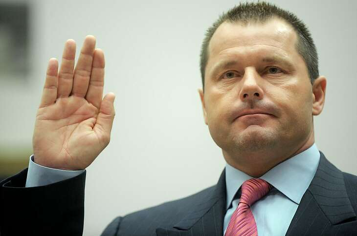 (FILES) Former New York Yankees baseball pitcher Roger Clemens is sworn-in prior to testifying before the House Oversight, and Government Reform committee hearing on drug use in baseball on Feburary 13, 2008 on Capitol Hill in Washington, DC. A federal grand jury will indict Roger Clemens on charges of making false statements to Congress about his use of performance-enhancing drugs, The New York Times reported August 19, 2010.
