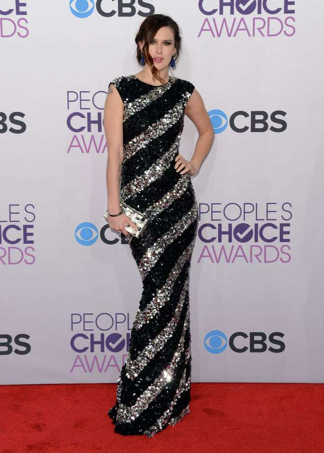 Rumer Willis rocks the black and silver. Photo: Jason Merritt, Getty Images / 2013 Getty Images