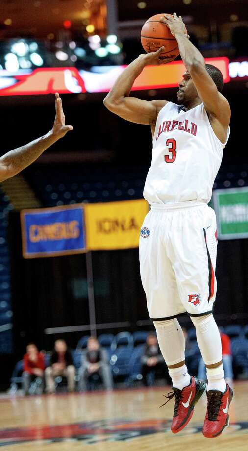 Fairfield University's Derek Needham goes up for a shot in a men's basketball game against Drexel University played at the Webster Bank Arena, Bridgeport, CT on Sunday December 16th, 2012. Photo: Mark Conrad / Connecticut Post Freelance