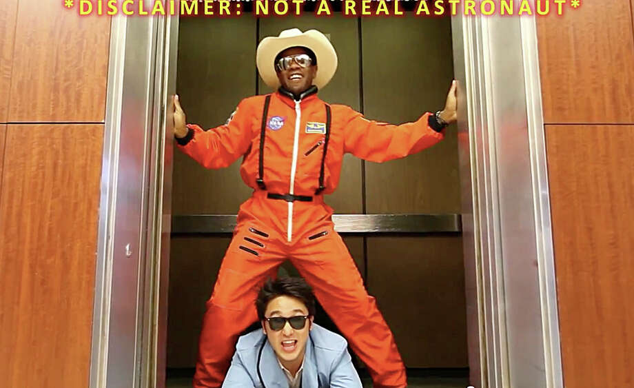 """NASA Johnson Style,"" a ""Gangnam Style"" parody on YouTube, stars NASA intern Eric Sim (bottom). / © 2012  Houston Chronicle"