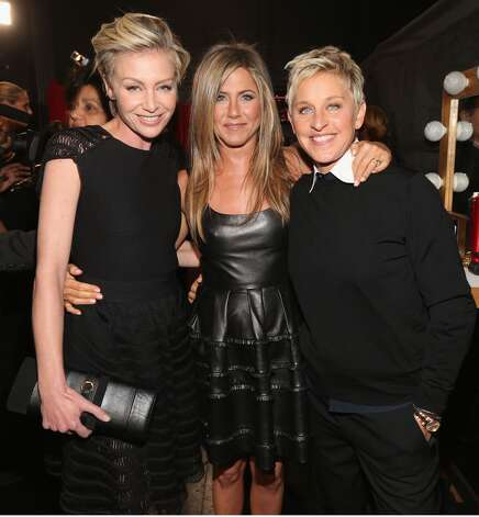 Portia de Rossi, Jennifer Aniston and Ellen DeGeneres.