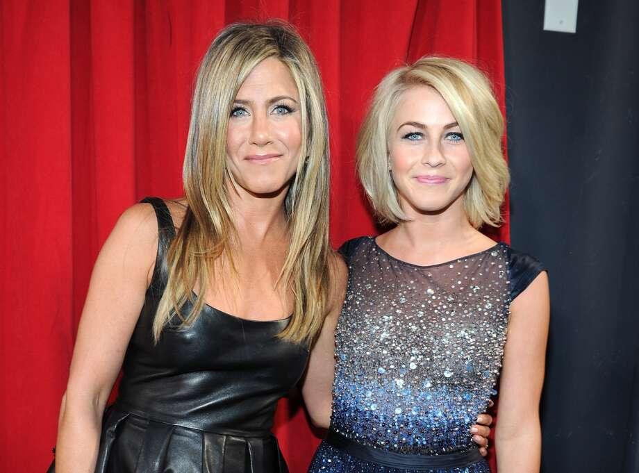 Jennifer Aniston and Julianne Hough