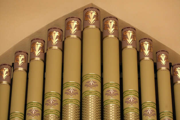 A detail of the pipe organ at St. Mark's Episcopal Church, Wednesday, Jan. 9, 2013. Photo: Jerry Lara, San Antonio Express-News / © 2013 San Antonio Express-News
