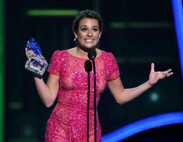 Lea Michele,  winner of Favorite TV Comedy Actress,  speaks onstage.