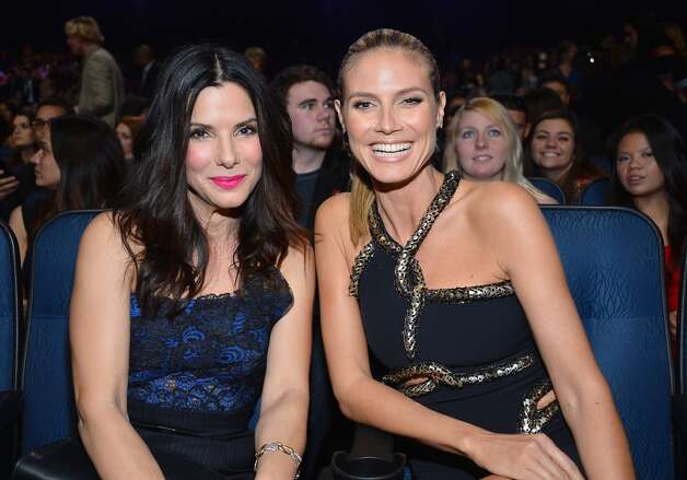 Actress Sandra Bullock and Heidi Klum are a dynamic duo.