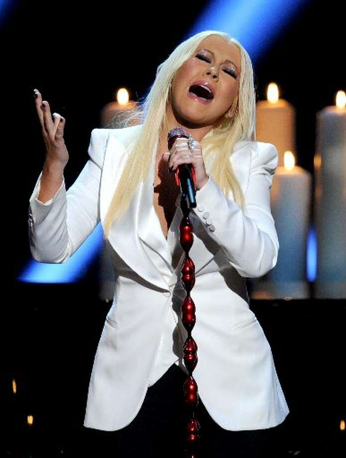 Christina Aguilera was the night's biggest performer.