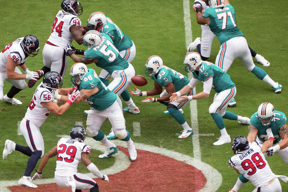 24. Dolphins-TexansSunday, Sept. 9. Channel 11Watched by: 820,900 Photo: Smiley N. Pool, Houston Chronicle / © 2012  Houston Chronicle