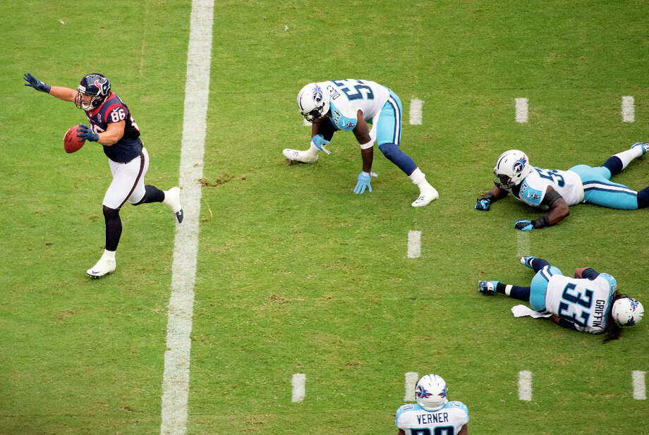 21. Titans-TexansSunday, Sept. 30. Channel 11Watched by: 853,400 Photo: Smiley N. Pool, Houston Chronicle / 2012  Houston Chronicle