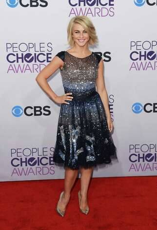 Best: An absolutely perfect dress for dancer/actress Julianne Hough; it's flirty, playful, sparkly and just right for the occasion. Photo: Jason Merritt, Getty Images / 2013 Getty Images