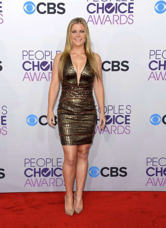 Worst: DRESS. TOO. TIGHT. (GASP.) (WHEEZE.) Alison Sweeney hasn't yet turned blue in this photo but that certainly must have happened soon after. Photo: Jason Merritt, Getty Images / 2013 Getty Images