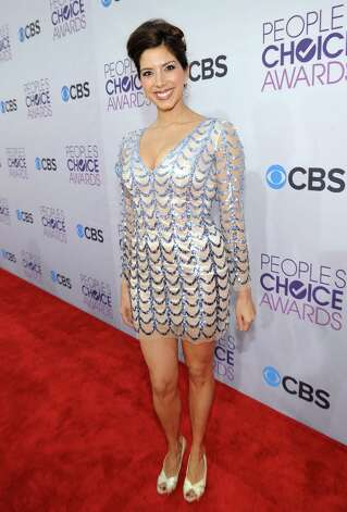 Worst: This dress on actress Viviana Vigil makes one think of nothing so much as fish scales. Photo: Michael Buckner, Getty Images For PCA / 2013 Getty Images