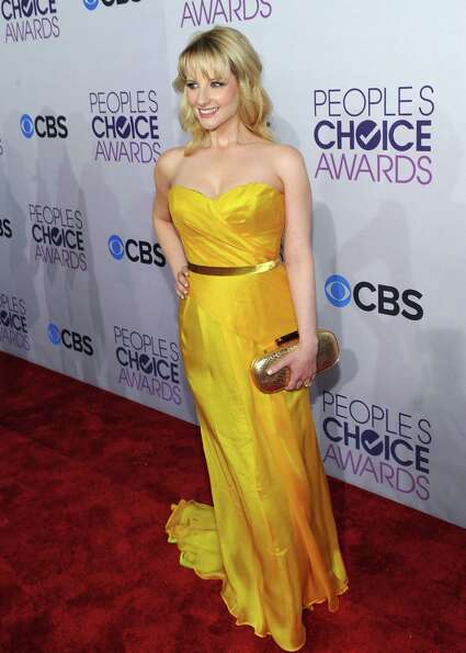 Best: Nothing fancy about Melissa Rauch's frock, but it's not easy to wear a color this rich