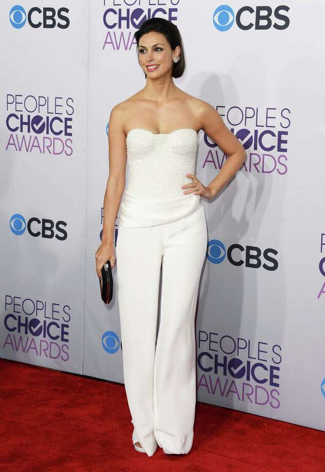 Best:The beautiful Morena Baccarin crawled out of her sickbed to show everyone how a pantsuit should be done. Photo: Jason Merritt, Getty Images / 2013 Getty Images