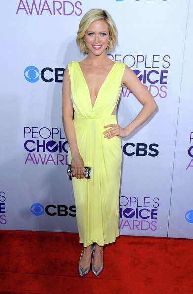 Best:  We give actress Brittany Snow points for wearing this pale yellow number without looki