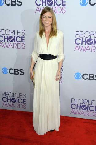 "Best: ""Grey's Anatomy"" star Ellen Pompeo dons a flattering, full-length dress that suits her wispy figure perfectly. The sleeves are a nice touch and there's a demure opening up the left leg (not seen here) that gives extra length to her 5-foot-7 stature. Photo: Frazer Harrison, Getty Images For PCA / 2013 Getty Images"