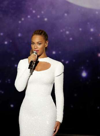 Today's Super Bowl halftime performance will feature Beyoncé singing (we assume) some of her biggest hits.  Photo: Cliff Watts, Associated Press / Parkwood Entertainment
