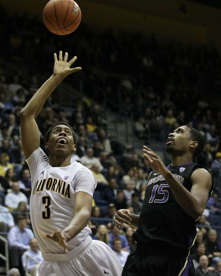 California guard Tyrone Wallace (3) shoots in the first half during an NCAA basketball game against Washington Wednesday Jan 9, 1013, in Berkeley California. Photo: Lance Iversen, The Chronicle